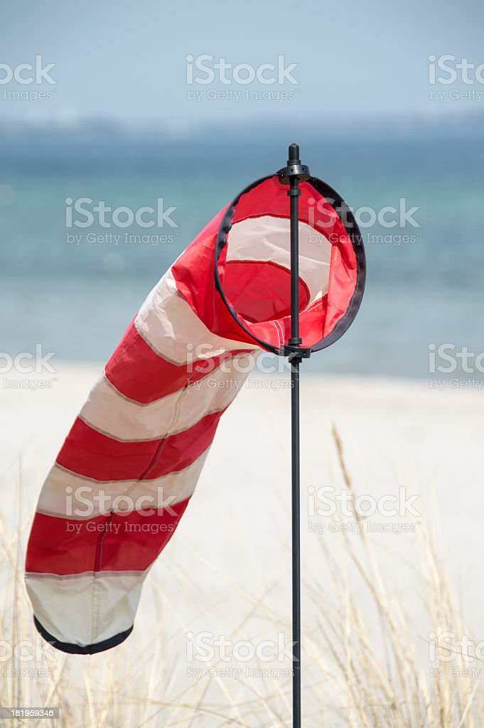 Windsock at the beach royalty-free stock photo