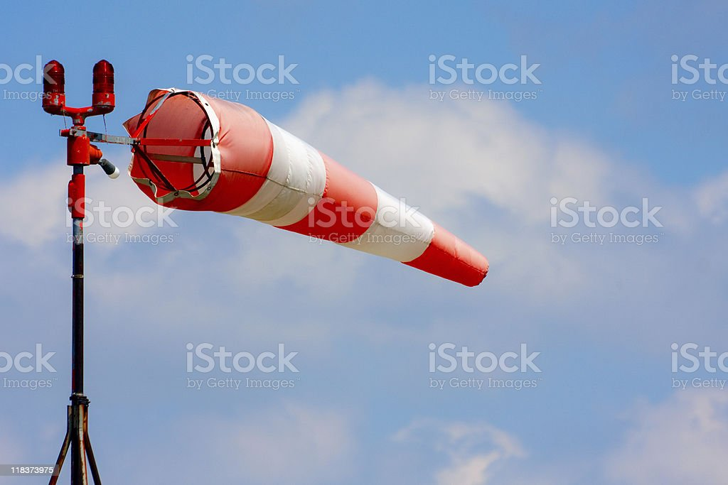Windsock blowing in the wind stock photo
