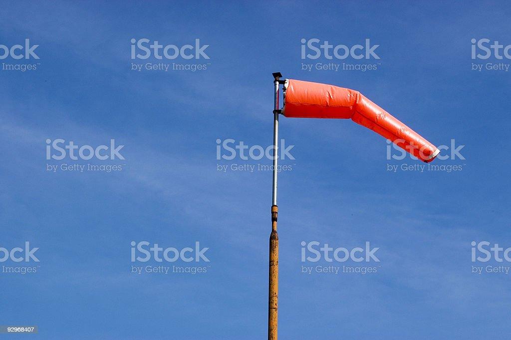 Windsock & Blue Sky stock photo