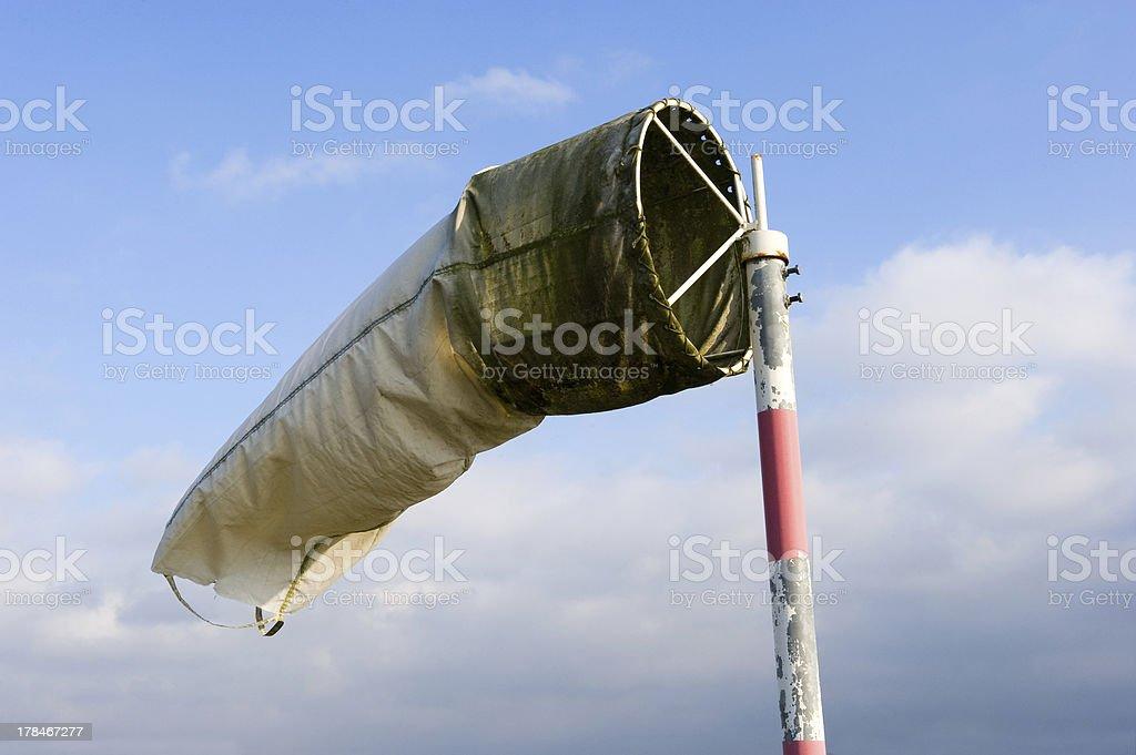Windsock on airfield stock photo