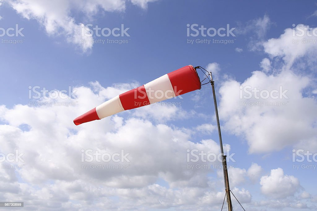 Windsock (horizontal) stock photo