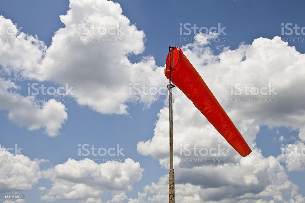 Windsock With Calm Wind stock photo