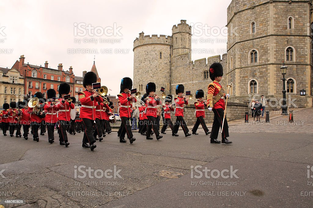 Windsor Castle - Changing of the Guards stock photo