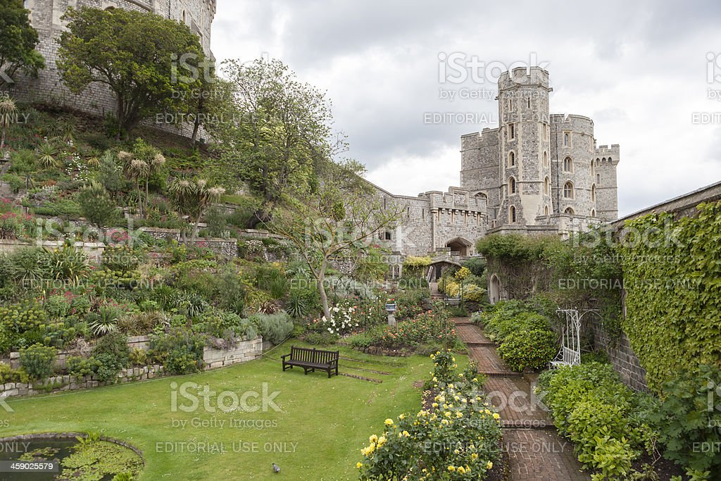 Windsor Castle Gardens stock photo