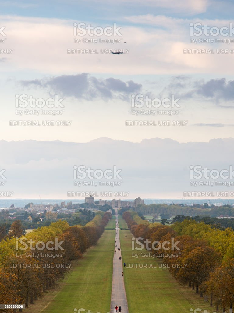 Windsor Great Park and Castle stock photo