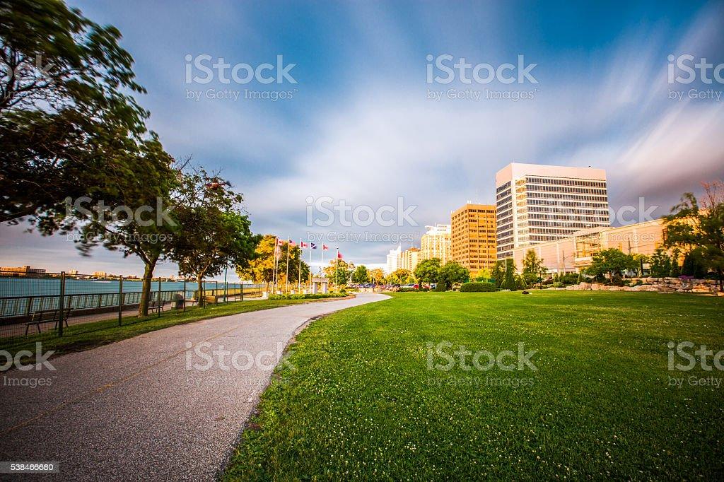 Windsor, Ontario Skyline stock photo