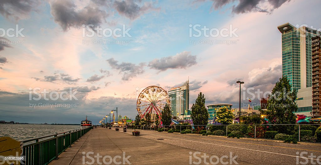Windsor, Ontario's Waterfront Trail stock photo