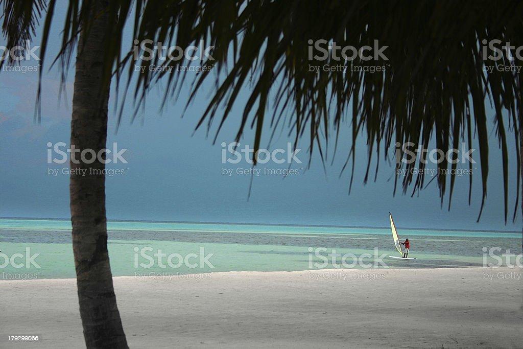 windsurf maldives 1 royalty-free stock photo