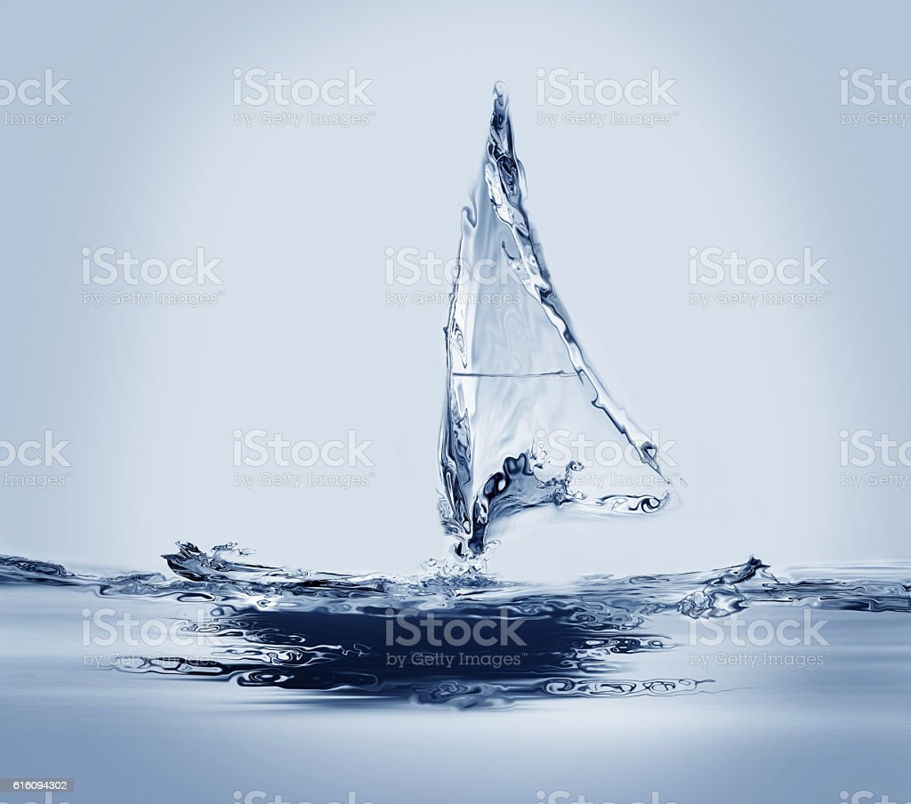 Windsurf Sailing royalty-free stock photo