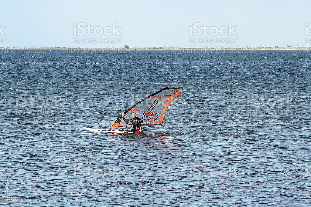 Surfista in Marseillan, Francia foto stock royalty-free