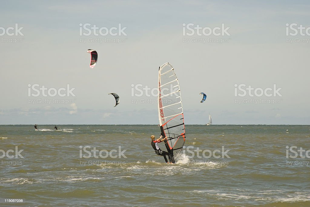 windsurfer stock photo