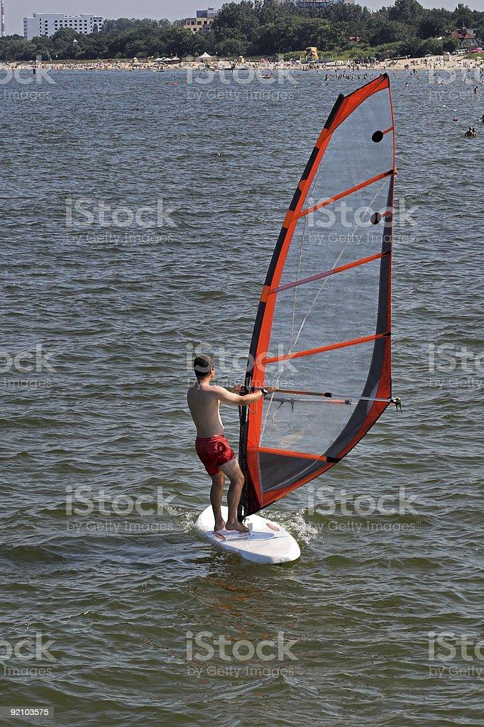 Windsurfer royalty-free stock photo