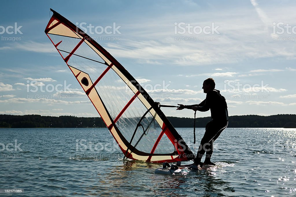 Windsurfing lessons royalty-free stock photo
