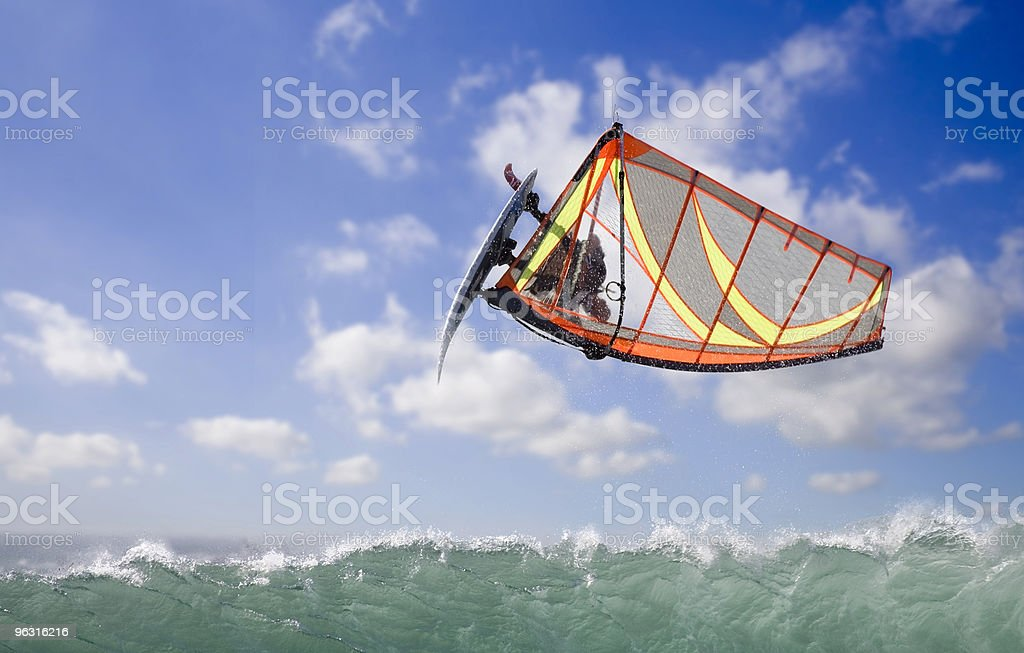 windsurfing loop royalty-free stock photo