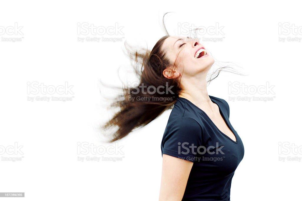 Windswept Exhilaration royalty-free stock photo