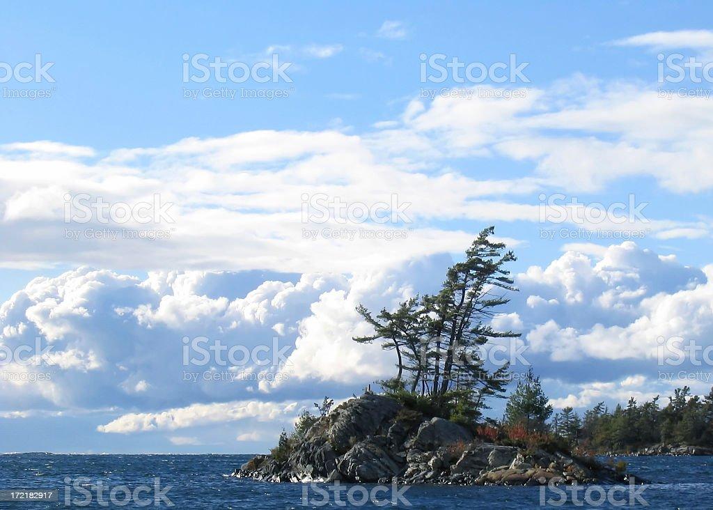 windswept island royalty-free stock photo