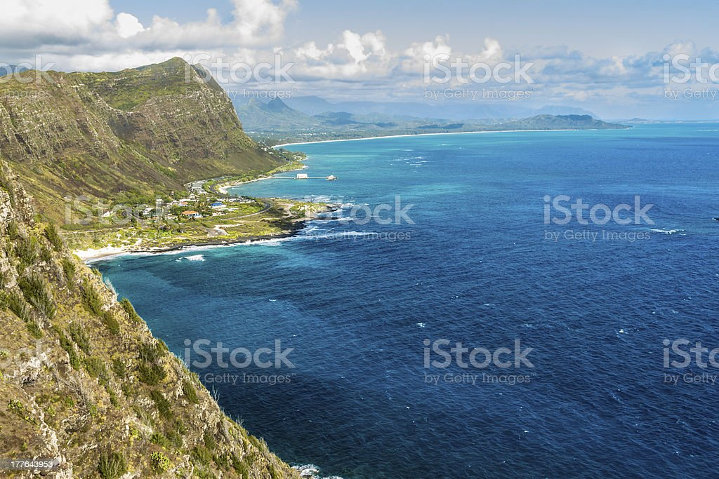 Windward Oahu royalty-free stock photo