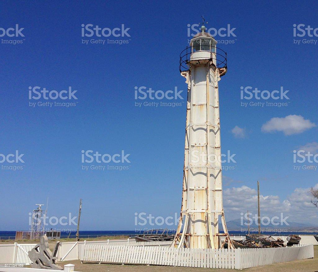 Windward Point Lighthouse, Guantanamo Bay stock photo