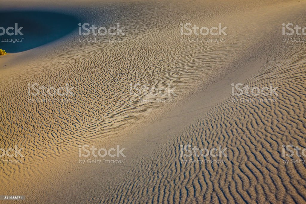 Windy and hot morning in the desert stock photo