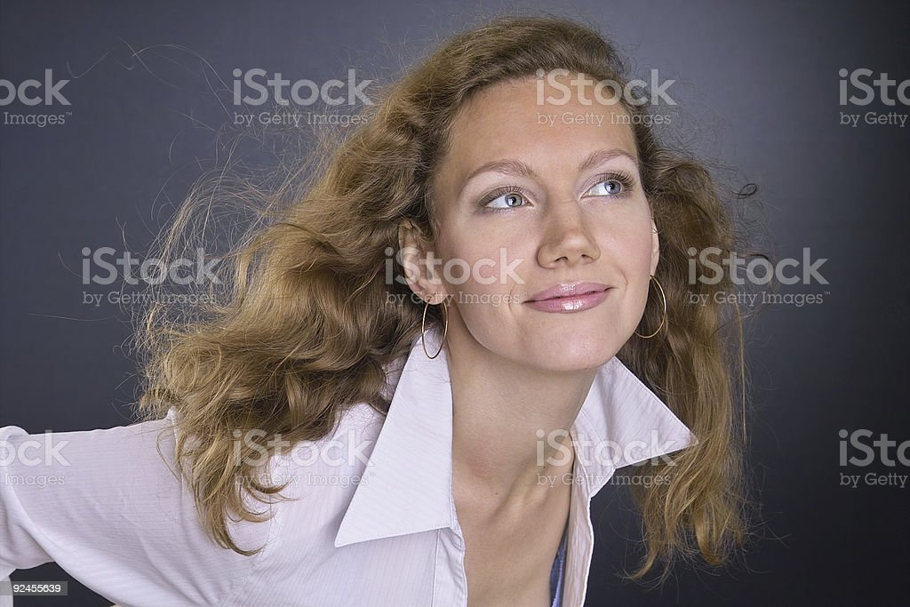 Windy beauty stock photo