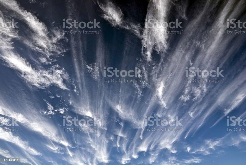 Windy blue sky stock photo