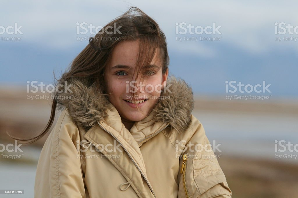 Windy day on the wildlife refuge royalty-free stock photo