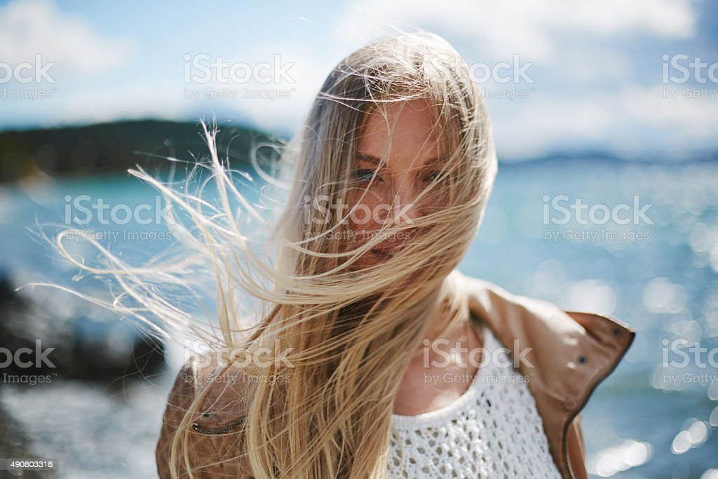 Windy day stock photo