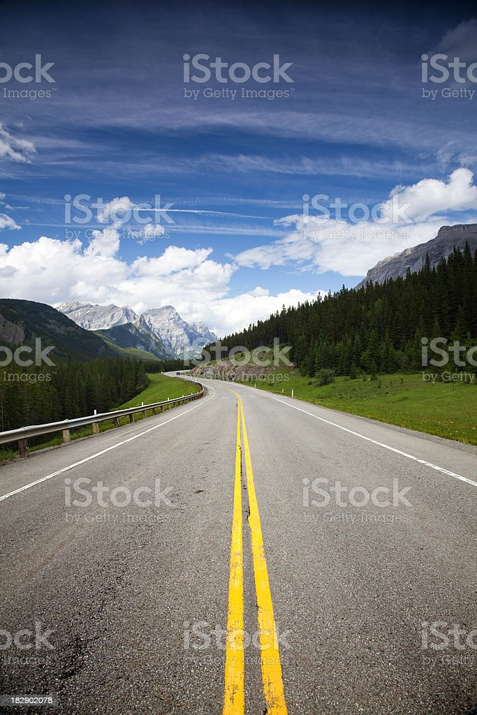 Windy Mountain Road royalty-free stock photo