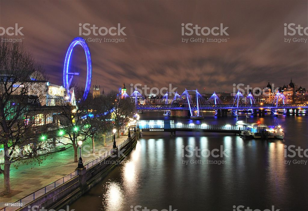 Windy Night over the City stock photo