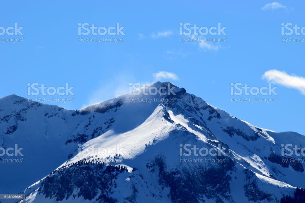 Windy Peak stock photo