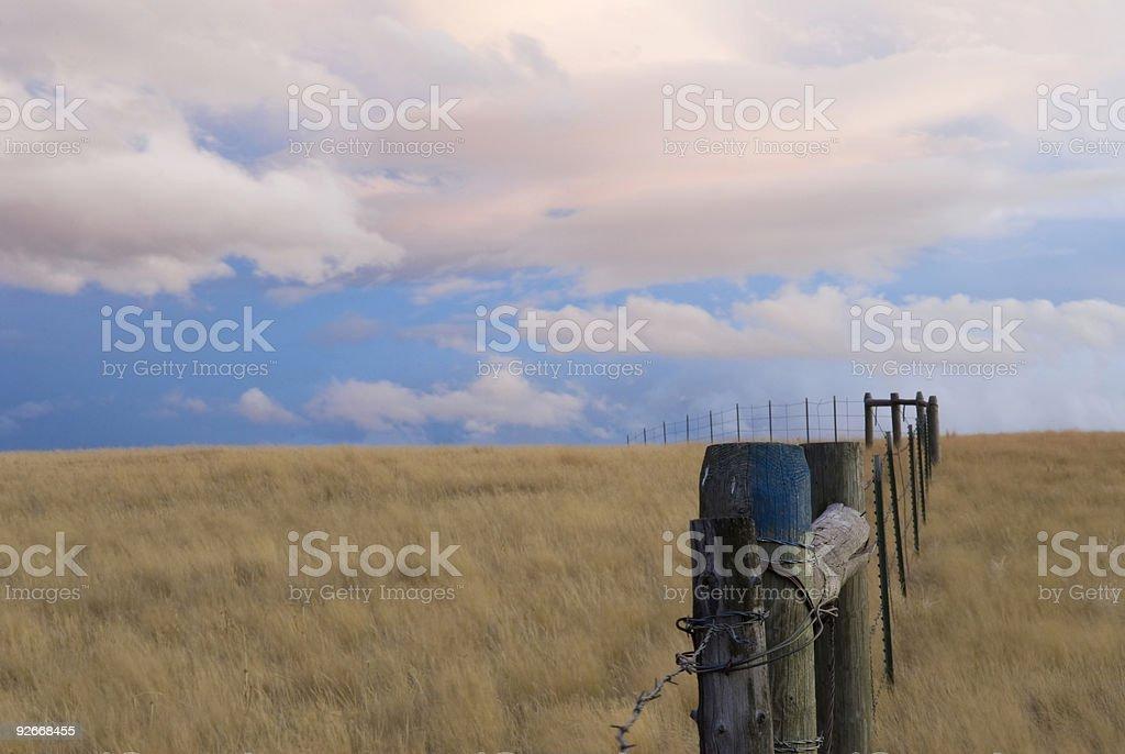 Windy Prairie royalty-free stock photo