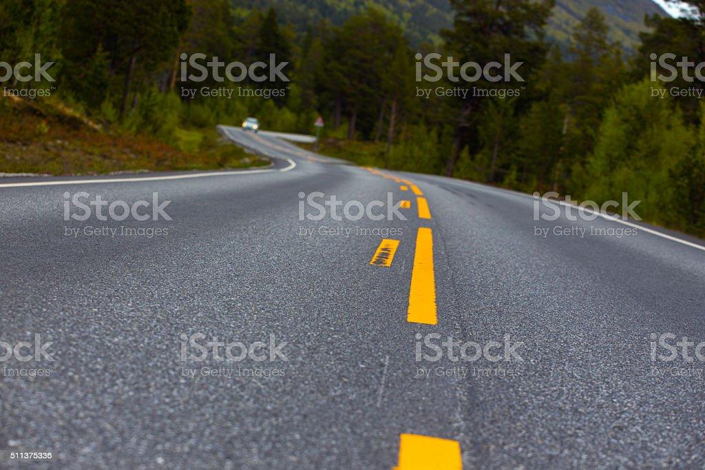 windy road stock photo