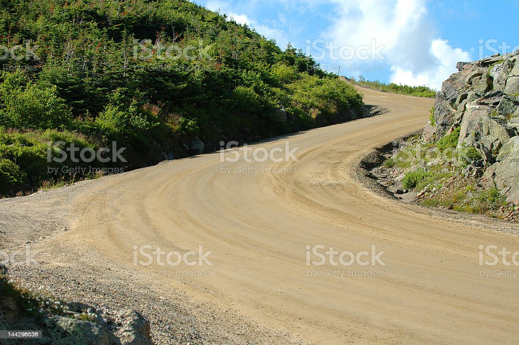 Windy Road up a Mountian stock photo