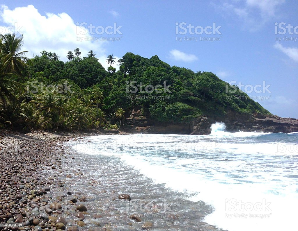 Windy, Rocky Beach royalty-free stock photo