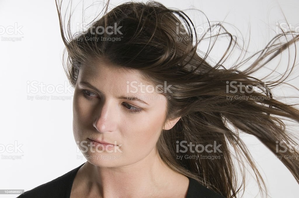 Windy Stare stock photo