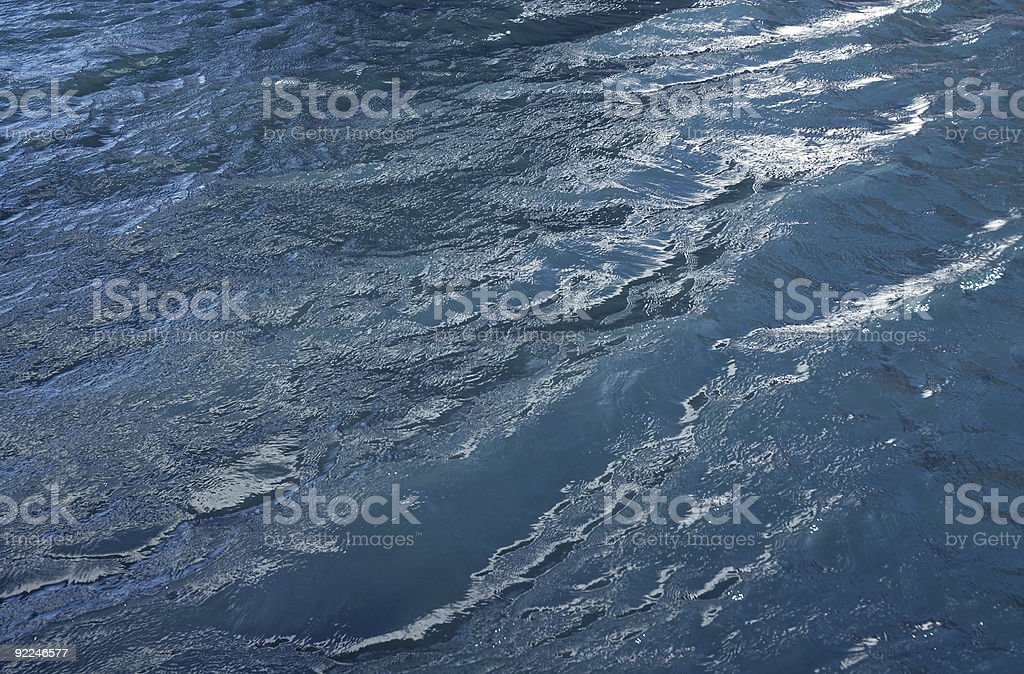 Windy water royalty-free stock photo
