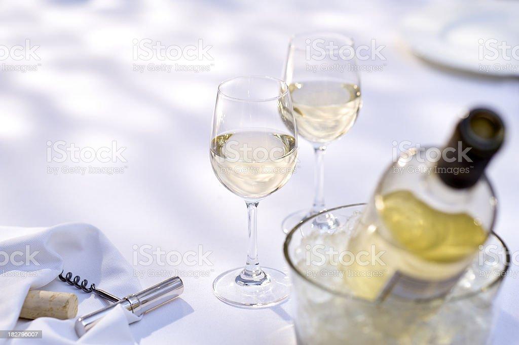 Wine Alfresco stock photo