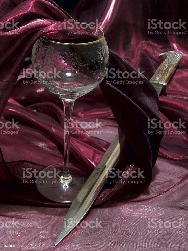 wine and bayonet royalty-free stock photo