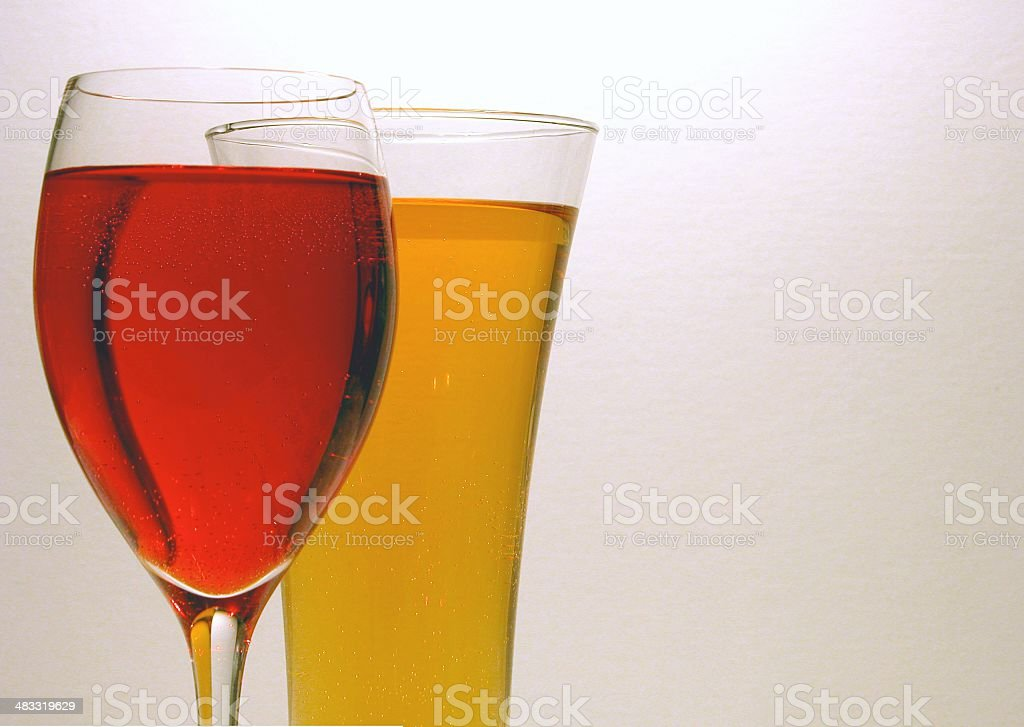 Wine and Beer - Horizontal royalty-free stock photo
