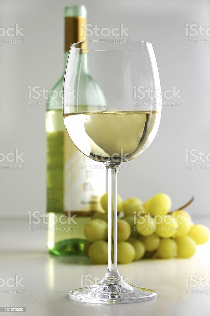 Wine and bottle royalty-free stock photo