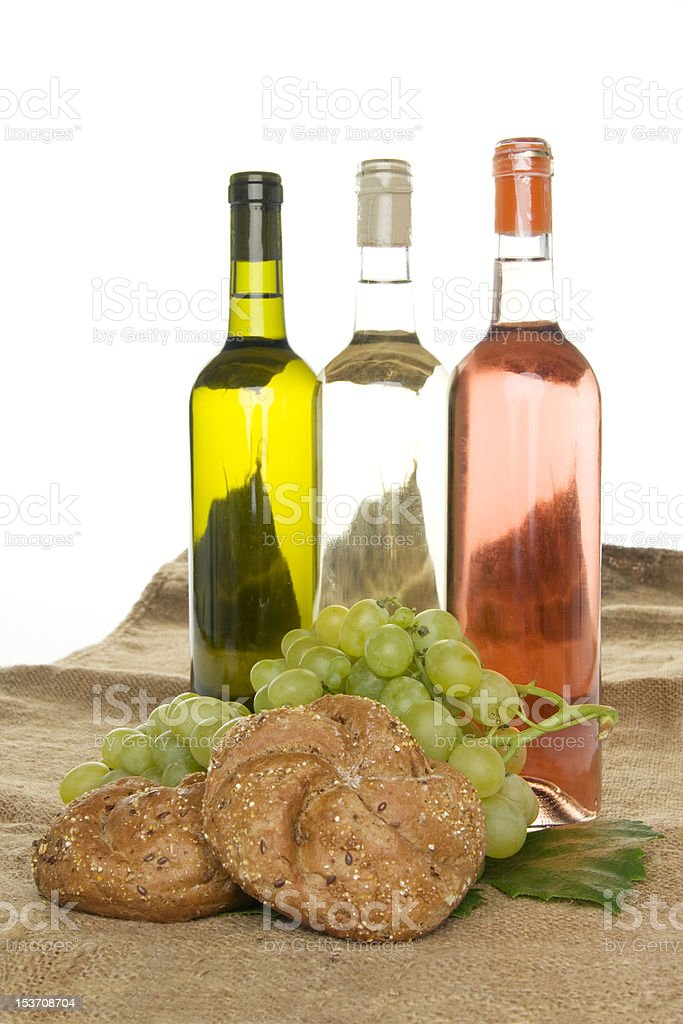 Wine and bread. royalty-free stock photo