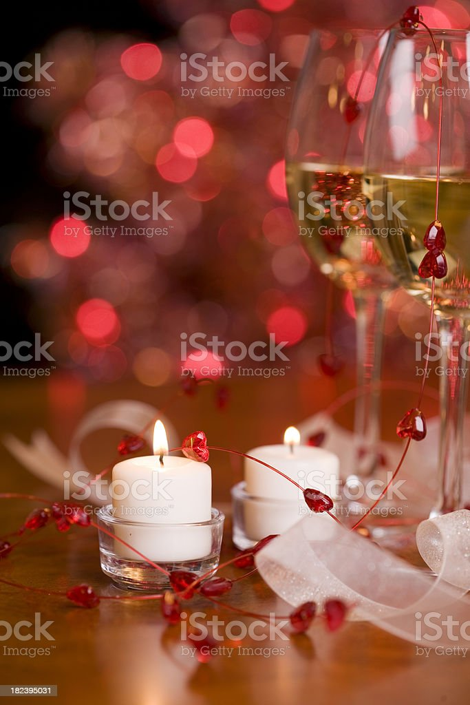 Wine and Candles royalty-free stock photo