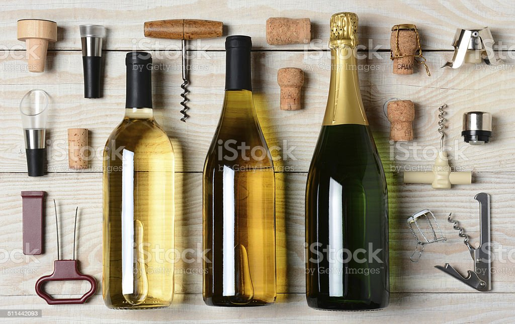 Wine And Champagne With Accessories stock photo