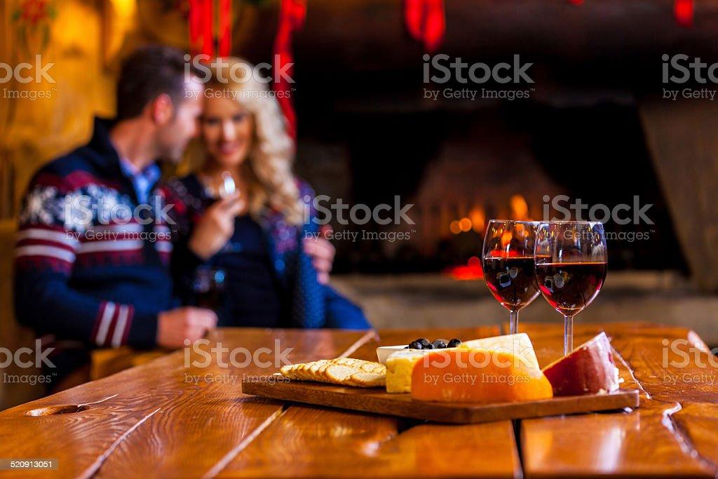 Wine and cheese stock photo