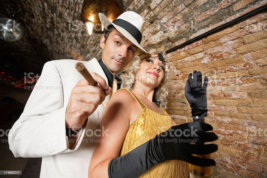 wine and cigar royalty-free stock photo