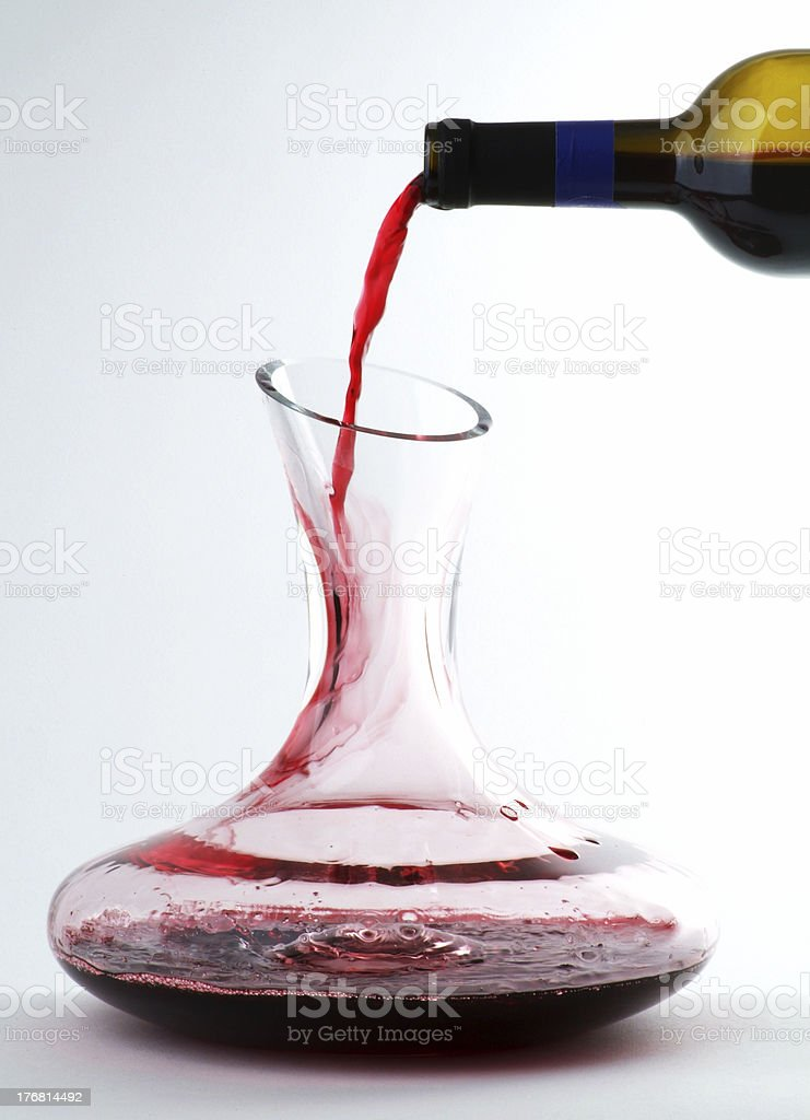 Wine and Decanter royalty-free stock photo