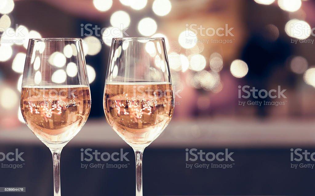 Wine and dine. stock photo