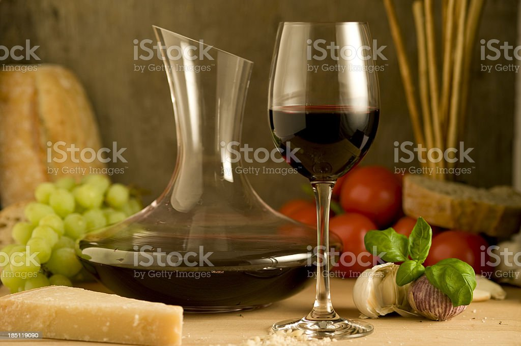Wine and food royalty-free stock photo