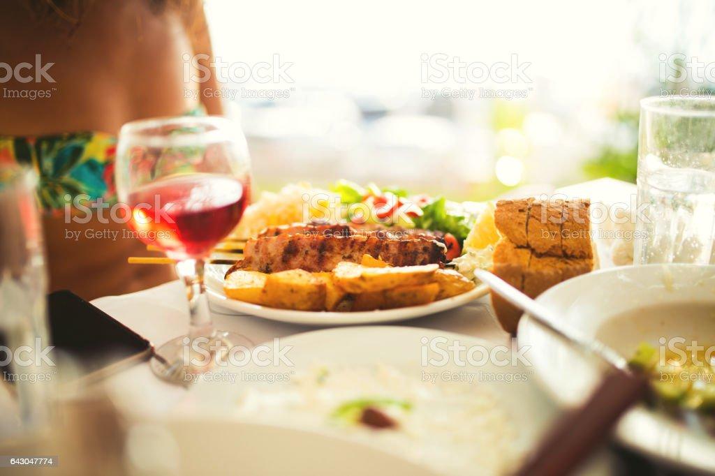 Wine and food stock photo
