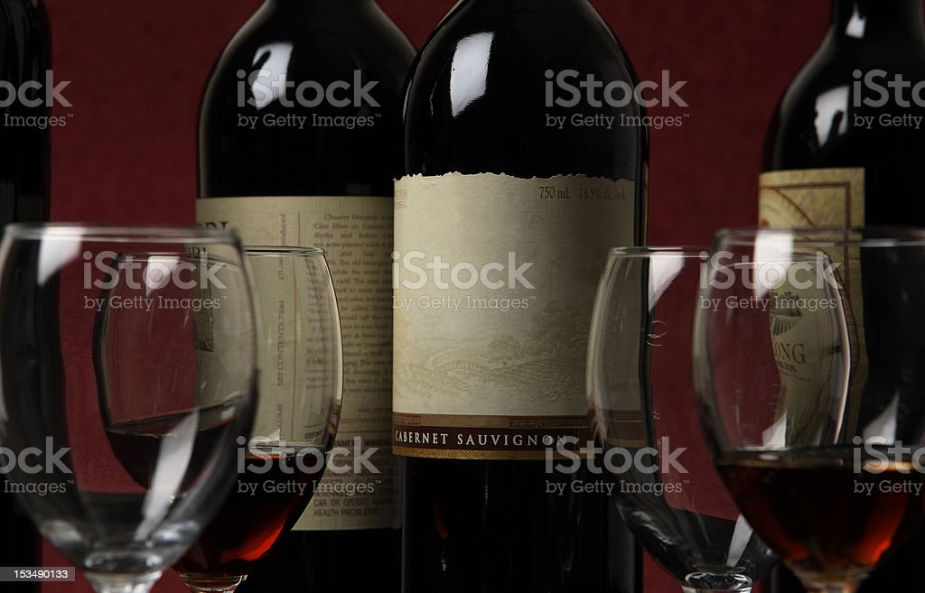 wine and glasses royalty-free stock photo